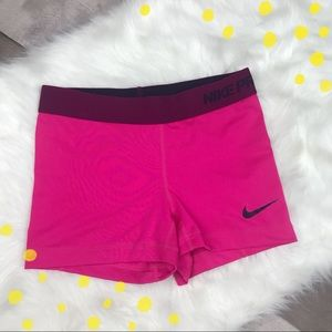 8172b58aad ... Nike Pro Dri Fit pink   purple biker shorts ...